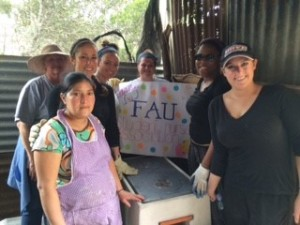 FAU students and staff post for a photo during a recent mission trip to Guatemala.