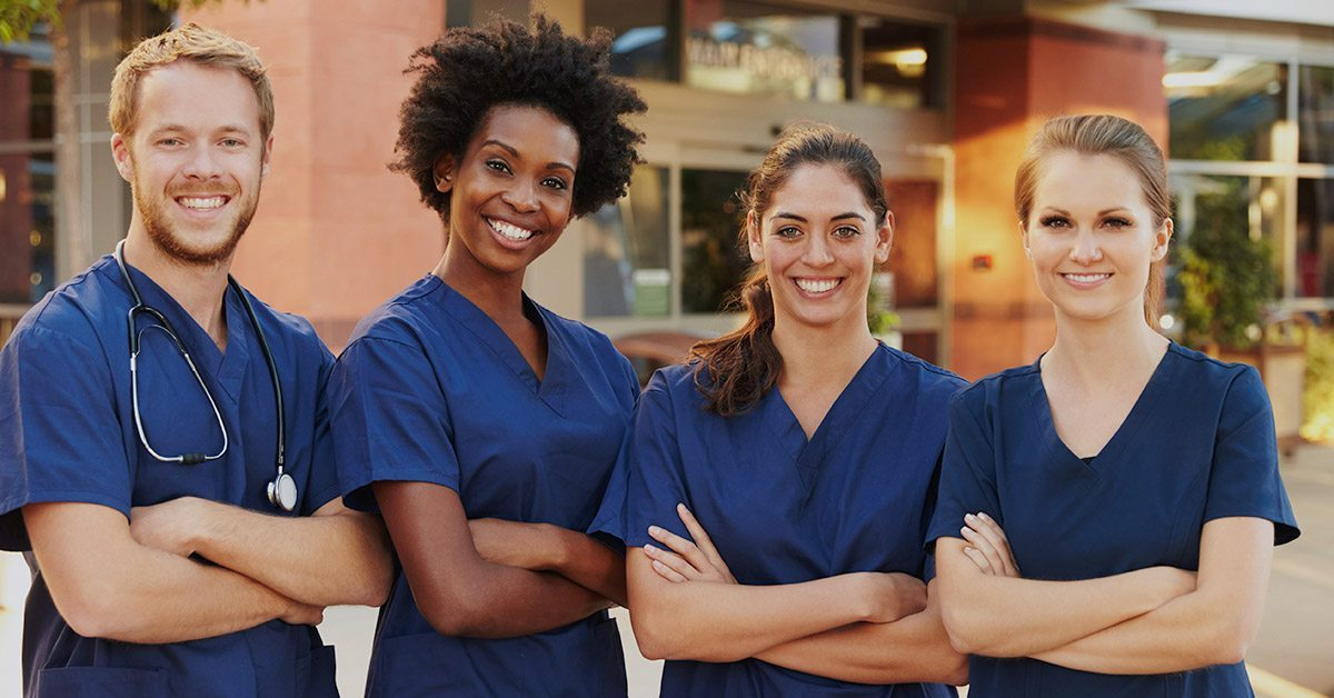 diverse group of nurses