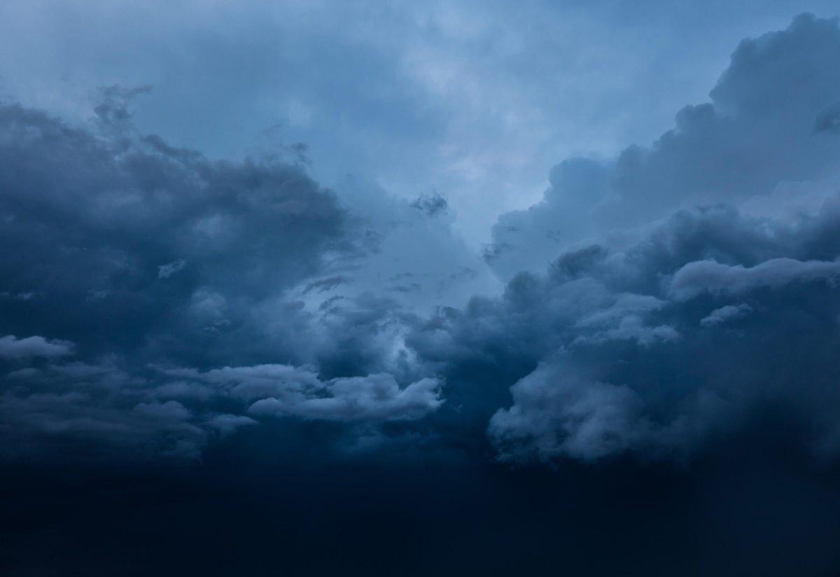 cloudy stormy skies