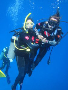 Rosemary Ciotti, MSN, RN, a disability healthcare consultant and case manager and disability activist based in Arlington, Va., who herself became a wheelchair a few years ago, goes diving with friend Jeannette Green, who Ciotti inspired to get certified with Diveheart.