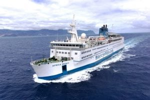 The Africa Mercy is the world's largest private hospital ship and is staffed by 400 Mercy Ships volunteers from 40 nations. Photo courtesy of Mercy Ships.