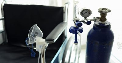 patient and family education - image of medical oxygen tube and wheelchair