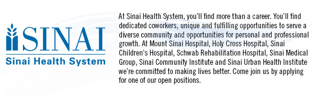 Sinai Health System Header